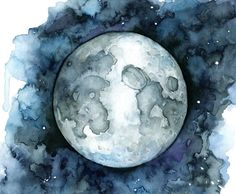 This is a fine art giclée print made from my original watercolor painting titled Goodnight Moon.  PRINT DESCRIPTION - Printed with professional grade Epson Stylus printers. - Printed using archival pigment inks. - Printed on high quality Finestra fine art paper. (paper descriptions below) - Printed to the edge (borderless). No trimming required. - Prints come with artist signature and print title on the back.  PAPER OPTIONS (1) Arctic Matte - A medium grade, smooth, acid free paper. This…