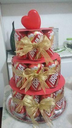bolo brahma de lata Bolo Fake, Ale, Gift Wrapping, Birthday, Creative, Party, Gifts, Bolo Chocolate, Amanda