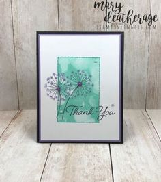Stampin' Up! Blended Bokeh Dandelion Wishes Thank You (Stamps – n - Lingers) Dandelion Wish, Stampin Up Catalog, Beautiful Handmade Cards, Stamping Up Cards, Card Tags, Paper Cards, Flower Cards, Greeting Cards Handmade, Making Ideas