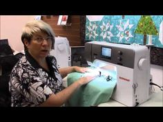 Bernina Hand-Look Quilting Stitches - YouTube (This can also be done with any machine that has the straight triple stretch stitch http://thesewingloftblog.com/stretch-stitchsewing-tip/)