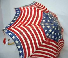 Red white and blue umbrella