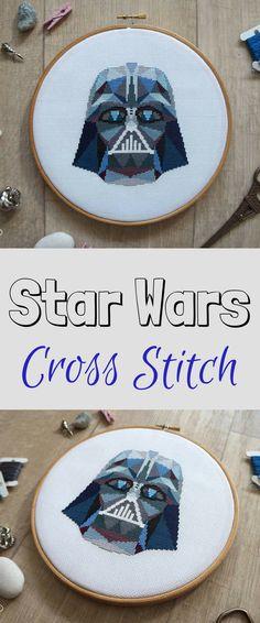 Star Wars Cross Stitch Pattern, Darth Vader Cross Stitch, Dark Side, Star Wars Embroidery, Star Wars Art, PDF Format, Instant Download #disney #starwars #darthvader #crossstitch #affiliate