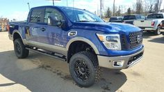 "2017 Nissan Titan Pro4X with 6"" RC lift kit and 35"" toyo tires"