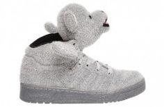 Prix Bas Baskets Jeremy Scott x adidas Originals Bear Femme Gris Outlet Boutique