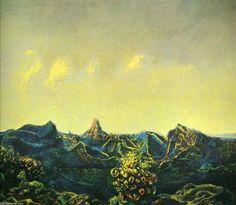 'Antipoden Landschaft', öl auf leinwand von Max Ernst (1891-1976, Germany)