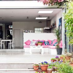 Great folding doors from living area to garden