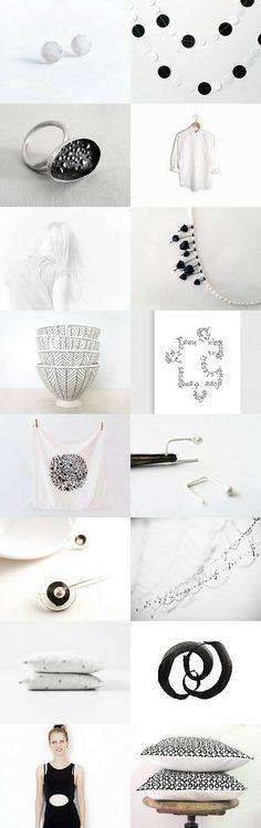 dotted :: treasury by Barbara on - EUR Modern Art, Contemporary, Gift Guide, Black White, Minimalist, Dots, Place Card Holders, Cards, Fashion Trends