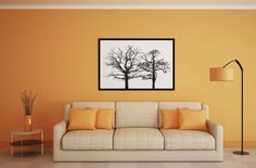 Abstract digital painting. Find it at #etsy store pascaldanielsprints Black and white dead trees art.