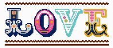 'Love' Needlepoint Project | Felicity Hall Felicity does truly gorgeous and modern needlepoint and even better, you can download this gorgeo...