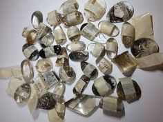 Rutilated quartz cab bulk sale, cabochon wholesale, golden and black rutile cab in Crafts , Jewellery Making , Cabochons , Gemstones |eBay