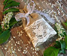 Set of 15 Natural Burlap Small Bags Burlap by BoutiqueSweetFloret
