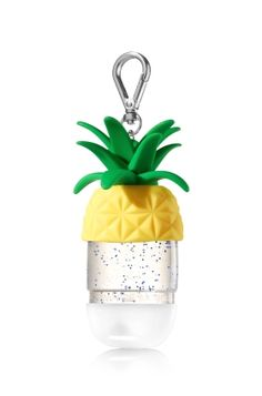 Pineapple - PocketBac Holder - Bath & Body Works - Add some fruity flair & a slice of summer to your favorite PocketBac! The convenient clip attaches to your backpack, purse and more so you can always keep your sanitizer handy. Pineapple Room, Cute Pineapple, Pineapple Kitchen, Alcohol En Gel, Hand Sanitizer Holder, Bath And Bodyworks, Inspirational Gifts, Gifts For Friends, It Works