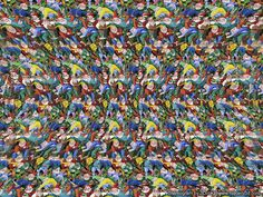 a special test to check if you can discover hidden images built into a random bunch of pixels, great for the eyes and for relaxing Hidden 3d Images, Hidden Art, Hidden Pictures, Eye Illusions, Cool Optical Illusions, Magic Eye Pictures, 3d Pictures, Pictures Online, 3d Stereograms