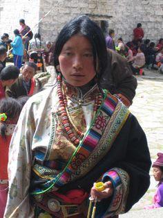 Tibetan girl in traditional costume