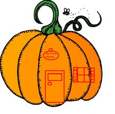 You can paint a door and window on a small pumpkin to put into your Halloween fairy garden. Add a ghost peering out the window or attach a small flying witch on a broomstick.