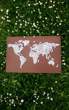 String art World map 60x40.