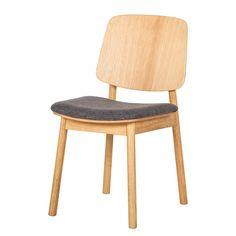 299,99 € for 2 Polsterstuhl Why Wood (2er-Set) - Webstoff / Eiche teilmassiv - Schwarz / Eiche Hell
