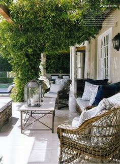 Beautiful, relaxing outdoor space-can't wait to get my pergola built this spring Outdoor Areas, Outdoor Seating, Outdoor Rooms, Outdoor Living, Outdoor Decor, Outdoor Tables, Outdoor Lounge, Gazebos, Outside Living