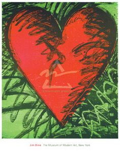 Rancho Woodcut Heart by Jim Dine