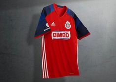 Historic Mexican club of Chivas officially unveil their brand-new third shirt manufactured by adidas. 'Las Chivas' are the latest team to. Sports Jersey Design, World Soccer Shop, Football Kits, Adidas, Stripes Design, Sports Shirts, Third, Polo Ralph Lauren, Sleeves