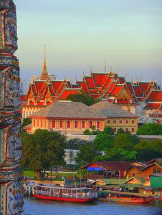 View from the Arun Temple, Bangkok , Thailand