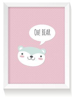 FREE printable nursery print: bear   creature