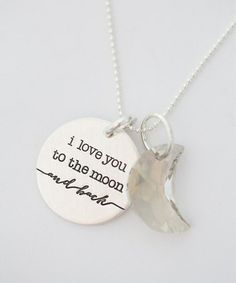 Another great find on #zulily! Sterling Silver 'I Love You to the Moon' Pendant Necklace by FIVE #zulilyfinds