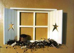 Primitive Americana Country decor Window shelf w by jalex25, $35.00
