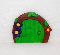 Fairy Door Ornament - polymer clay fairy door - miniature fairy garden - Magic Portal Ornament - Dolls and Miniatures - clay sculpture