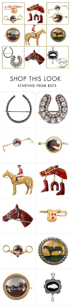 """""""Antique Equestrian Jewelry"""" by engleann ❤ liked on Polyvore"""
