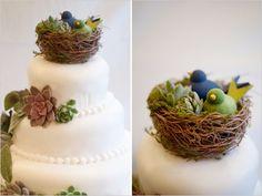 Bird Nest Cake Topper | New Alternative Wedding Cake Topper