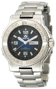 REACTOR Men's 74603 Critical Mass Degrading Blue Dial Stainless Steel Watch REACTOR. $299.95. Unidirectional rotating timing bezel. Water-resistant to 660 feet (200 M). Durable, accurate quartz movement. Quality Japanese-quartz movement. 2-tone models are triple gold plated