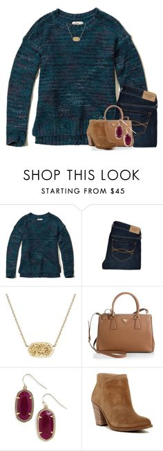 """I always fail You but You never let me go."" by your-daily-prep ❤ liked on Polyvore featuring Hollister Co., Abercrombie & Fitch, Kendra Scott, Prada and Lucky Brand"