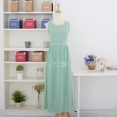 http://www.paccony.com/product/Summer-New-Solid-Color-Round-Neck-Studded-Straps-Chiffon-Maxi-Dresses-26194.html