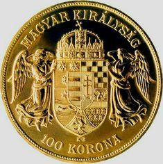 The Österreichisch-ungarische Krone or osztrák-magyar korona was the official… Gold Bullion Bars, Bullion Coins, Gold And Silver Coins, Gold Krugerrand, Foreign Coins, Gold Money, Gold Stock, Antique Coins, World Coins