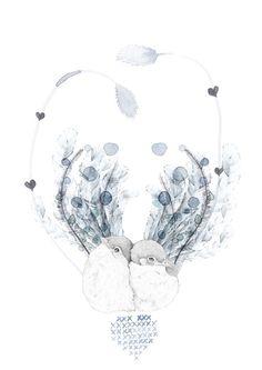 Birdy & Me : Illustrations & Musings by Kelly Smith: beth EMILY Anniversary Tattoo, Kelly Smith, Pastel Crayons, Art And Illustration, Feather Illustration, Ad Art, Favim, Love Birds, Art Drawings