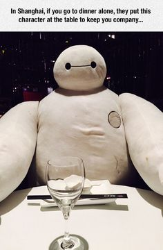Baymax, The Best Dinner Companion #lol #haha #funny