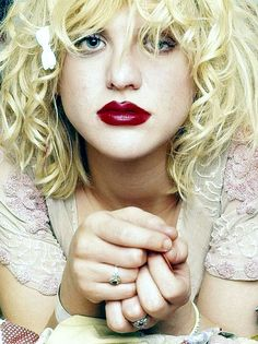 Courtney Love, the brains behind Kurt and the boys.