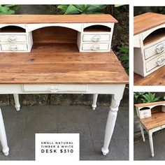 Claire aka The Shabby Chick® ( Office Desk, Claire, Corner Desk, Upcycle, Shabby, Videos, Photos, Furniture, Instagram
