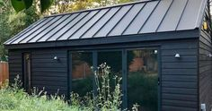 Shedworking: Garden office gym - shed - Gym Shed, Shed Office, Small Garden Office, Backyard Office, Backyard Studio, Garden Studio, Backyard Sheds, Itu, Shed Conversion Ideas