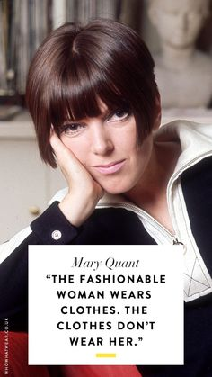 of the Best Fashion Quotes of All Time Fashion quotes: Mary QuantFashion quotes: Mary Quant Mary Quant, Womens Fashion Stores, Womens Clothing Stores, Clothes For Women, Clothing Boutiques, Cheap Clothes, Home Remedies For Hair, Hair Loss Remedies, Best Beauty Tips