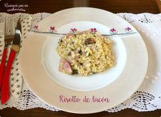 ¿Te gusta el risotto? Pues te traigo uno al que no vas a poder resistirte, estoy segura.  #cocinandoparamiscachorritos #risotto #lacón #setas #boletus http://blgs.co/j7G0DJ