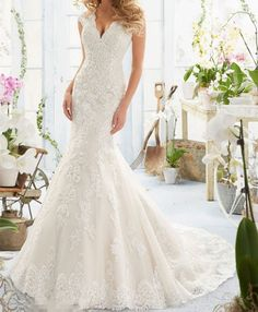 Lace White/Ivory Wedding Dress Bridal Gown Custom Size 4 6 8 10 12 14 16 18
