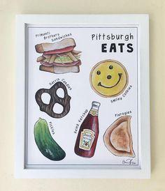 Pittsburgh Eats 8x10 Print #pittsburgh #pittsburghart
