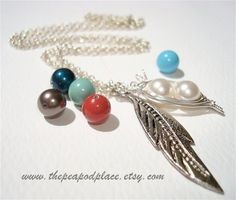 Swarovski Pearl Necklace  sweet pea necklace by ThePeaPodPlace, $26.00
