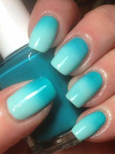 35 Amazing Ombre Nails that You Must Try | LOVIKA #bright #blue