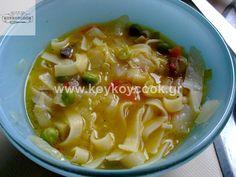 ΣΟΥΠΑ ΛΑΧΑΝΙΚΩΝ ΜΕ ΝΟΥΝΤΛΣ,ΤΖΙΝΤΖΕΡ & ΑΣΑΦΕΤΙΔΑ Asian Recipes, Ethnic Recipes, Soups, Asian Food Recipes, Soup, Chowder