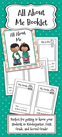"""This is a wonderful book for getting to know your students better! It is perfect to use the first week of school or any other time during the year for an """"All About Me"""" unit! Your students will love taking home their illustrated All About Me books to share with their families, and they make a wonderful keepsake for the parents as well!"""