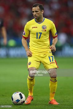 Lucian Sanmartean of Romania during the UEFA EURO 2016 Group A match between Romania and Albania at Stade des Lumieres on June 19 2016 in Lyon France