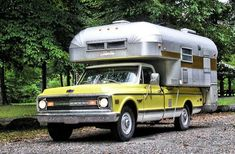 I love this ... now i just need a kick ass old truck and a vintage truck camper.